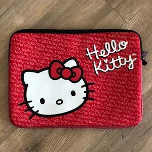 Hello Kitty Laptop Case Neoprene in red